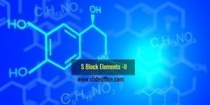S Block Elements